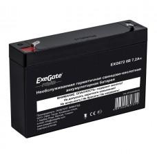 Аккумулятор 6В 7.2Ач Exegate Power EXG672 клеммы F1 (234536)