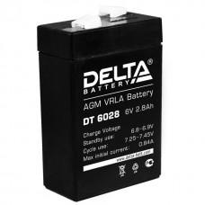 Аккумулятор DELTA DT 6028 6V 2.8Ah (66x33x99мм/0.61кг)