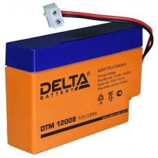 Аккумулятор DELTA DTM 12008 12V 0.8Ah (96x25x62мм/0.34кг)