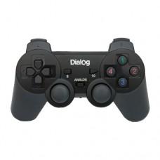 Геймпад Dialog GP-A11RF чёрный беспроводной, 2 мини-джойстика, крестовина, 12 кнопок