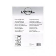 Плёнка глянцевая А4 75 mk Lamirel LA-78656(01) (100шт.) для ламинирования
