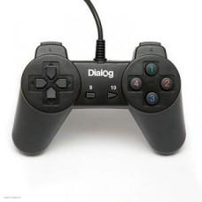 Геймпад Dialog GP-A01 чёрный проводной, без мини-джойстиков, крестовина, 10 кнопок